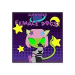 Bitches! (Female dogs) - square Sticker