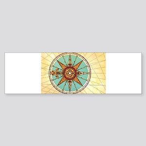Antique Compass Rose Bumper Sticker