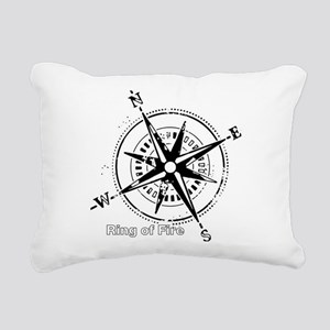 Ring of Fire Graphic Compass Rectangular Canvas Pi