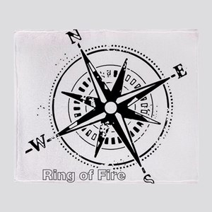 Ring of Fire Graphic Compass Throw Blanket