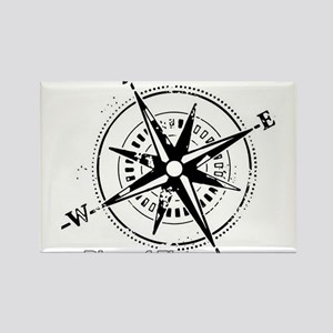 Ring of Fire Graphic Compass Rectangle Magnet