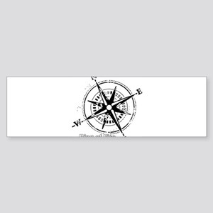 Ring of Fire Graphic Compass Bumper Sticker
