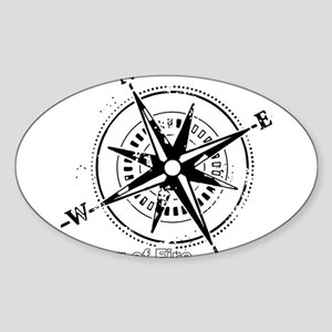 Ring of Fire Graphic Compass Sticker