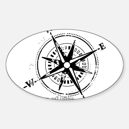 Ring of Fire Graphic Compass Decal