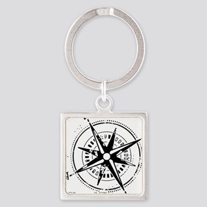 Ring of Fire Graphic Compass Keychains