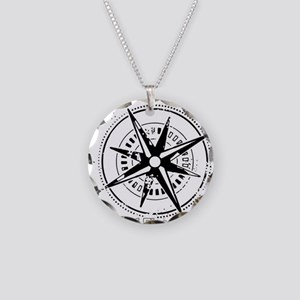 Ring of Fire Graphic Compass Necklace