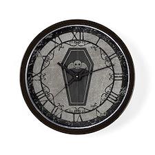 Cute Gothic Coffin Wall Clock