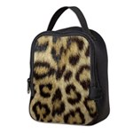 Leopard Print Neoprene Lunch Bag