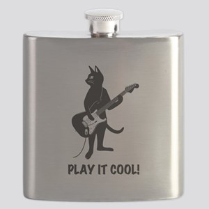 Cat Playing the Guitar Flask
