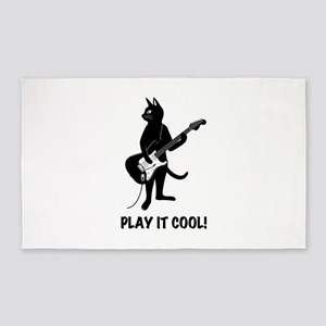Cat Playing the Guitar Area Rug