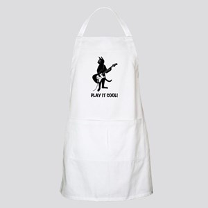 Cat Playing the Guitar Apron