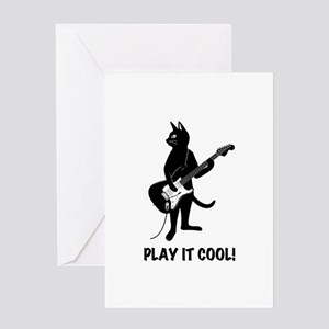 Cat Playing the Guitar Greeting Card