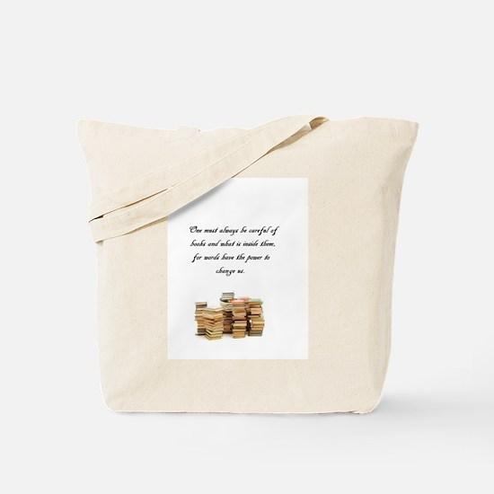 Books change us Tote Bag