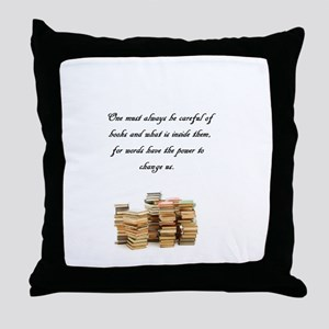 Books change us Throw Pillow