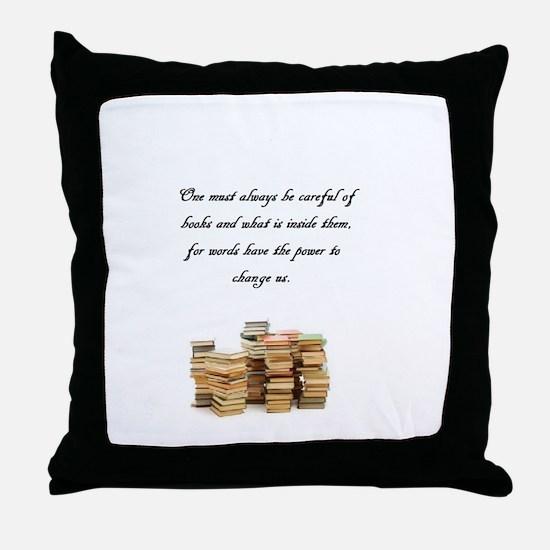 Books change us Throw Pillow