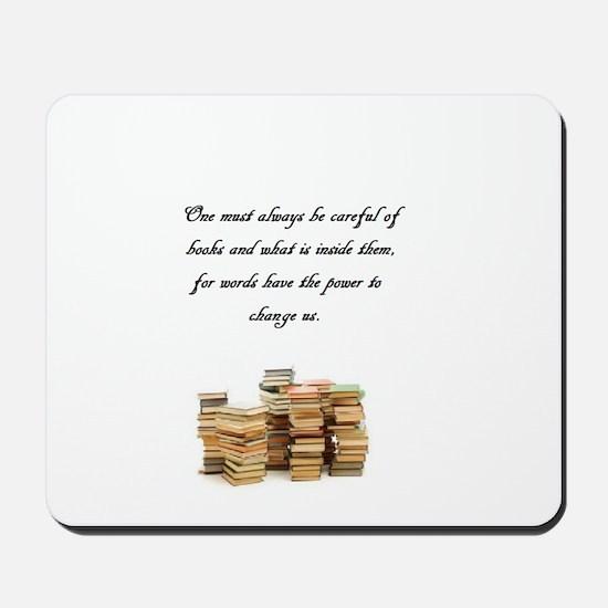 Books change us Mousepad