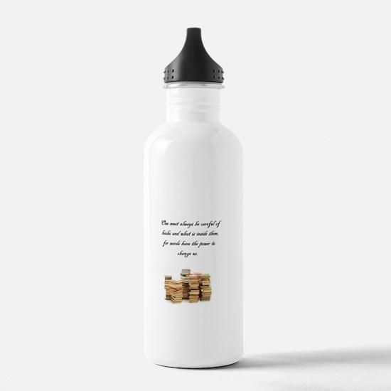 Books change us Water Bottle