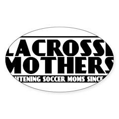 Lacrosse Mothers Sticker (Oval)