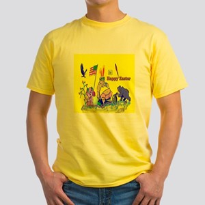 Easter Bunny Dad Yellow T-Shirt