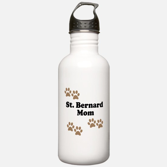 St. Bernard Mom Water Bottle