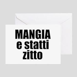 Italian language greeting cards cafepress mangia e statti zitto greeting card m4hsunfo