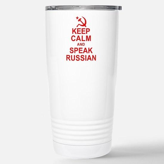 Keep Calm and Speak Russian Travel Mug