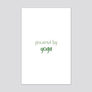 Powered By yoga Mini Poster Print