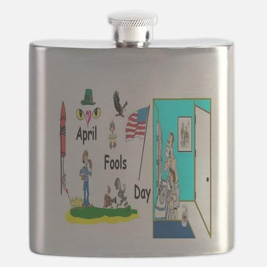 April Fools Day Fun Art Flask