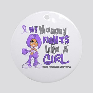 Fights Like a Girl 42.9 H Lymphoma Ornament (Round