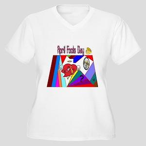 April Fools Gold Women's Plus Size V-Neck T-Shirt