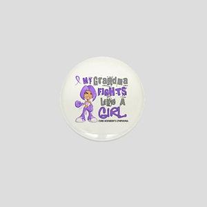 Fights Like a Girl 42.9 H Lymphoma Mini Button