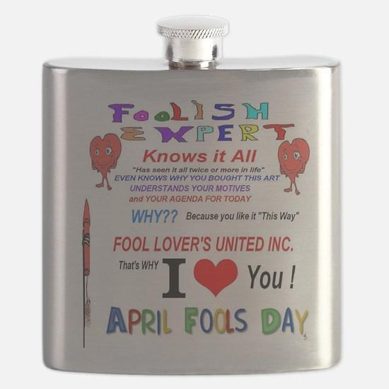 April Fools Foolish Expert Flask