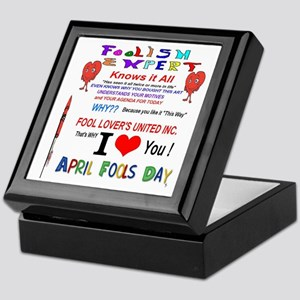 April Fools Foolish Expert Keepsake Box