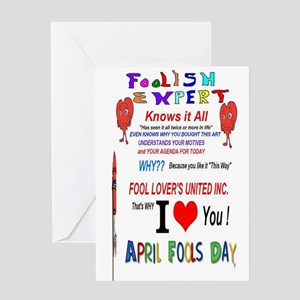 April Fools Foolish Expert Greeting Card