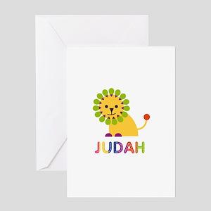 Lion of judah greeting cards cafepress judah loves lions greeting card m4hsunfo