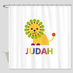 Judah Loves Lions Shower Curtain