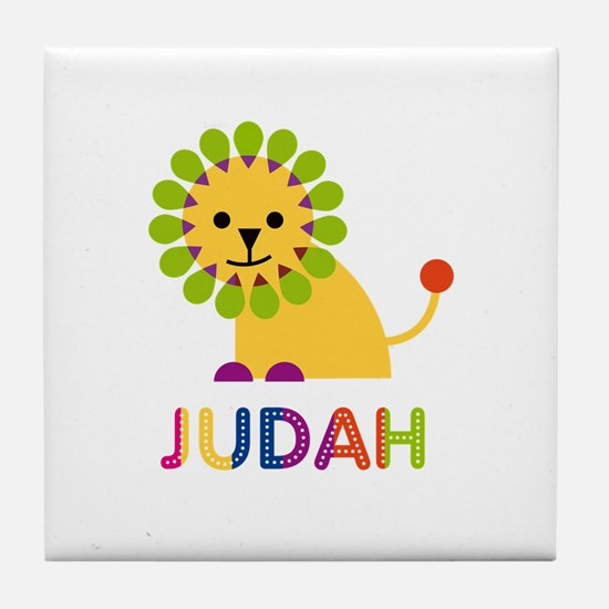 Judah Loves Lions Tile Coaster