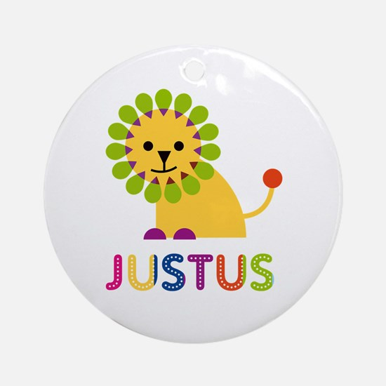 Justus Loves Lions Ornament (Round)