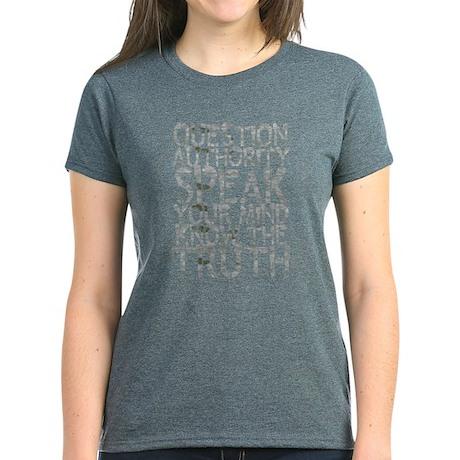Question Authority Women's Dark T-Shirt
