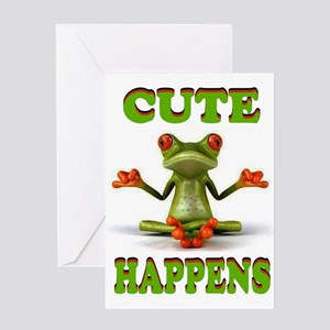 Kermit the frog greeting cards cafepress cute frog greeting card m4hsunfo