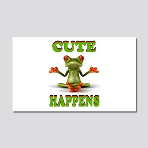 CUTE FROG Car Magnet 20 x 12