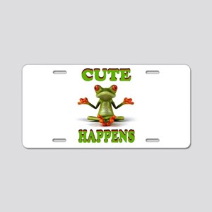 CUTE FROG Aluminum License Plate