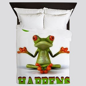 CUTE FROG Queen Duvet