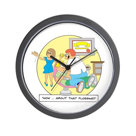 ...about that Flossing Wall Clock