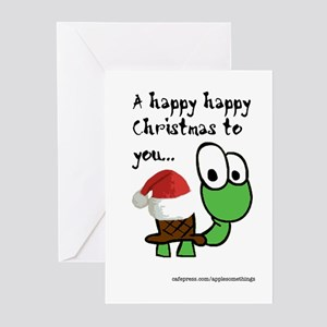 Happy Christmas Turtle Greeting Cards (Pack of 6)