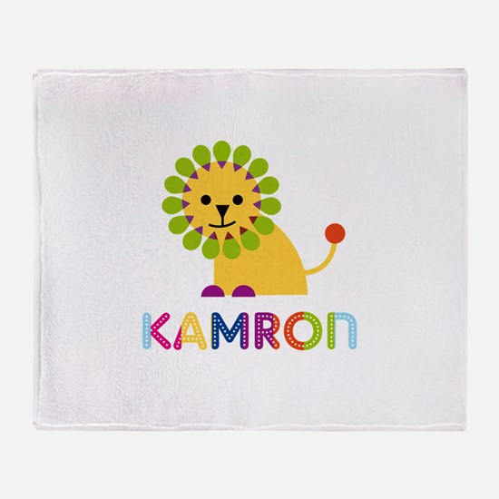 Kamron Loves Lions Throw Blanket