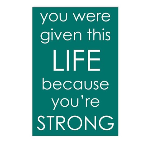 You Are Strong Postcards (Package of 8)