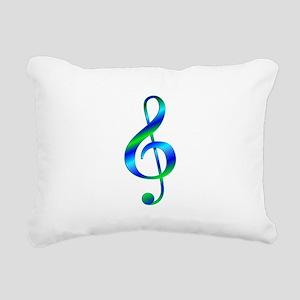 Colorful Treble Clef Rectangular Canvas Pillow