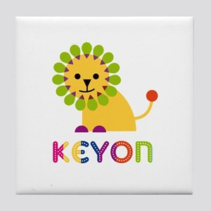 Keyon Loves Lions Tile Coaster