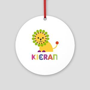 Kieran Loves Lions Ornament (Round)